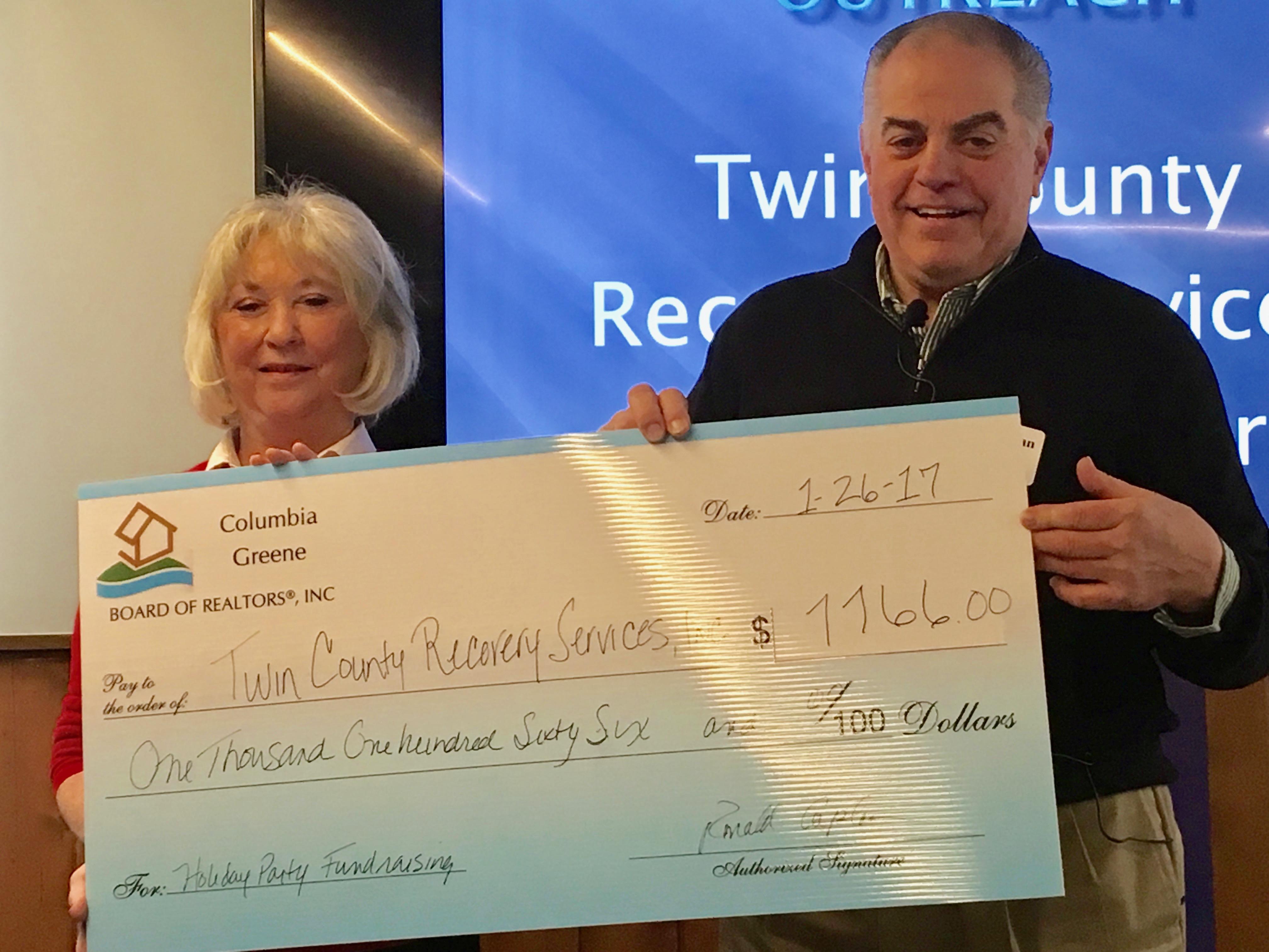 REALTORS Contribute $1K+ to Addiction Services Program